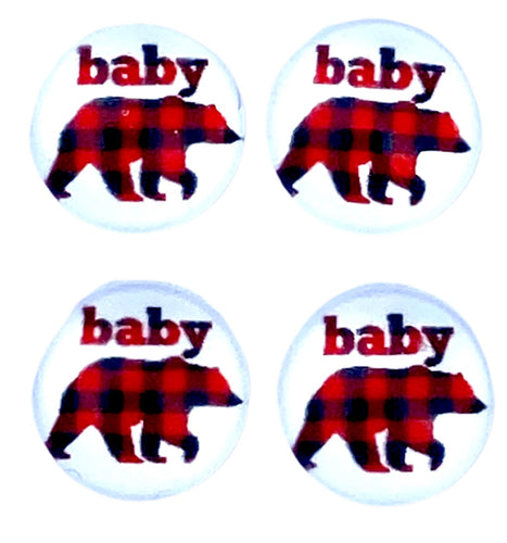 Baby Bear-12mm Glass Cabochon
