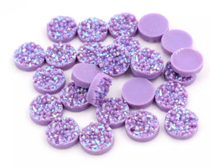 Light Purple Iridescent-10/12mm Druzy