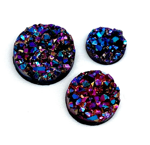Purple Jewels- 8/10/12mm Druzy