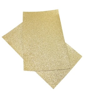 Gold Fine Glitter Canvas
