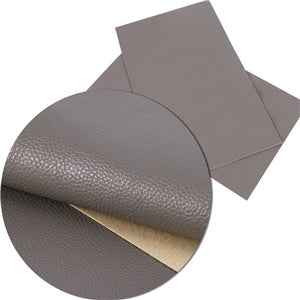 Dark Gray Solid Faux Leather
