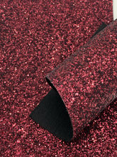 Wine Premium Twill Thick Chunky Glitter Canvas