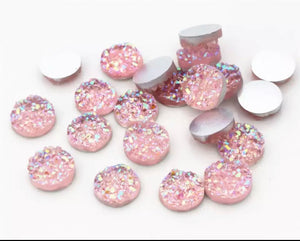 Light Pink-8/10/12mm Druzy