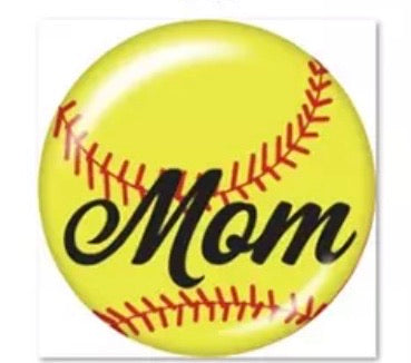 Softball Mom 2 Glass Cabochon