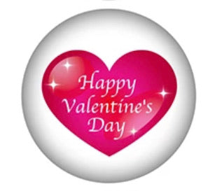 Happy Valentine's Day -12mm Glass Cabochon