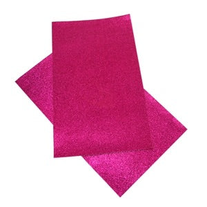 Hot Pink Fine Glitter Canvas