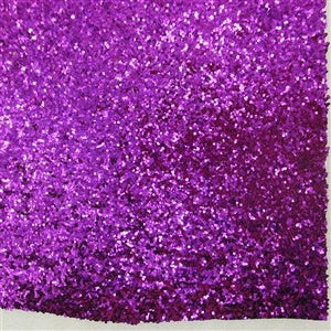 Purple Chunky Glitter Canvas