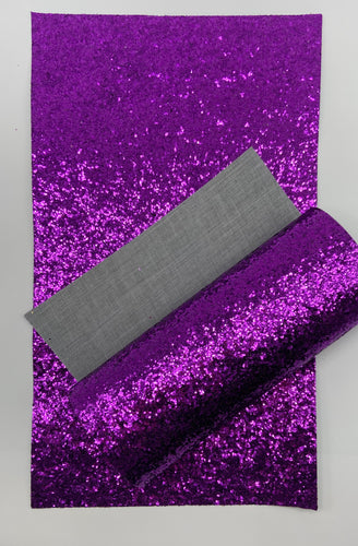 Plum Purple Chunky Glitter Canvas