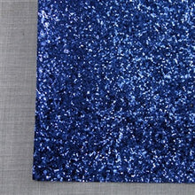 Navy Blue Chunky Glitter Canvas
