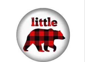 Little Bear-12mm Glass Cabochon