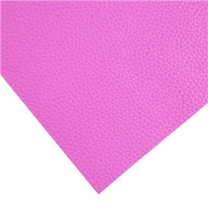 Fuchsia Hot Pink Solid Faux Leather