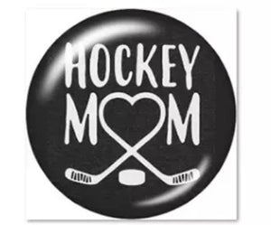 Hockey Mom Glass Cabochon