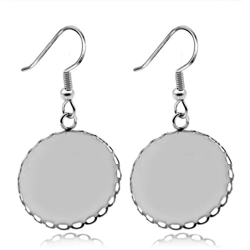 Loop Dangle Stainless Steel Earring Base (Pair)