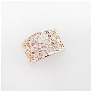 Rose Gold Rhinestone Arch - Metal Button