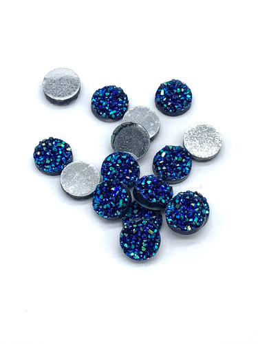 Iridescent Deep Blue-10/12mm Druzy