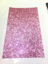 Rosé Pink Chunky Glitter Canvas