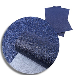 Navy Blue Fine Glitter Canvas