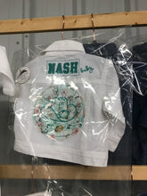 NASH Baby- White Denim Jacket- Cowboy Hat