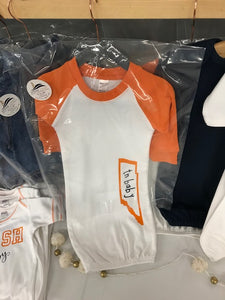 NASH Baby- Baby Gown- Nash Baby- Orange