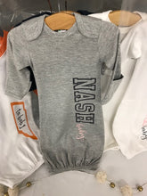 NASH Baby- Baby Gown- Nash Baby- Solids- Grey