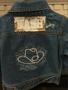 NASH Baby- Denim Jacket- Cowboy Hat