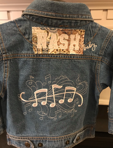 NASH Baby- Denim Jacket- Musical Notes