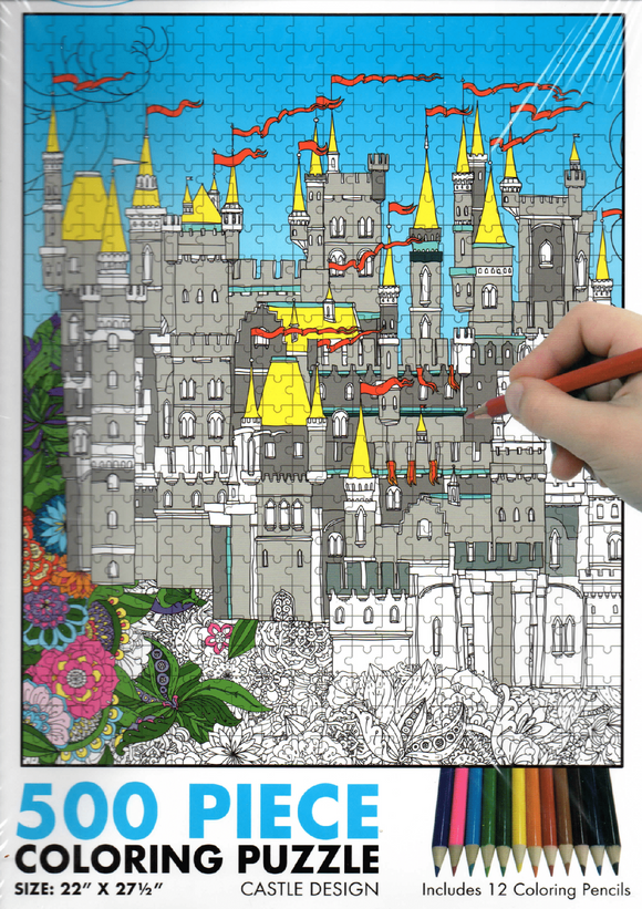 Castle Colouring Jigsaw Puzzle