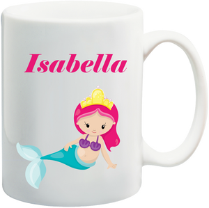 Mermaid Kids Mug Personalised