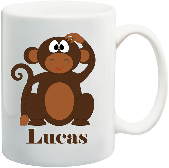 Monkey Kids Mug Personalised