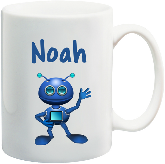 Robot Kids Mug Personalised