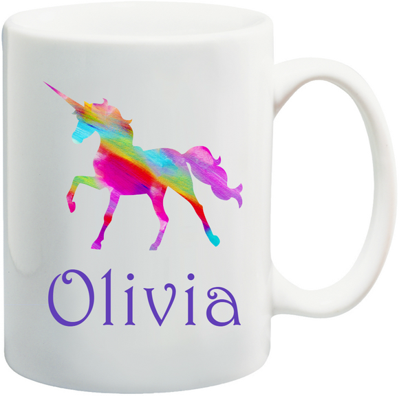 Unicorn Kids Mug Personalised