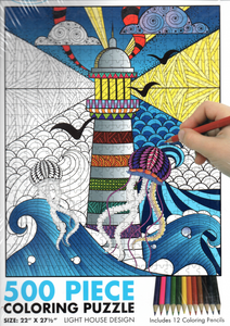 Light house colouring jigsaw puzzle