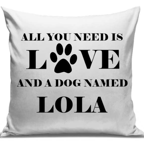Love & A Dog Named..... Personalised Cushion Cover