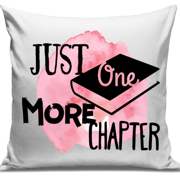 Just One More Chapter Cushion Cover