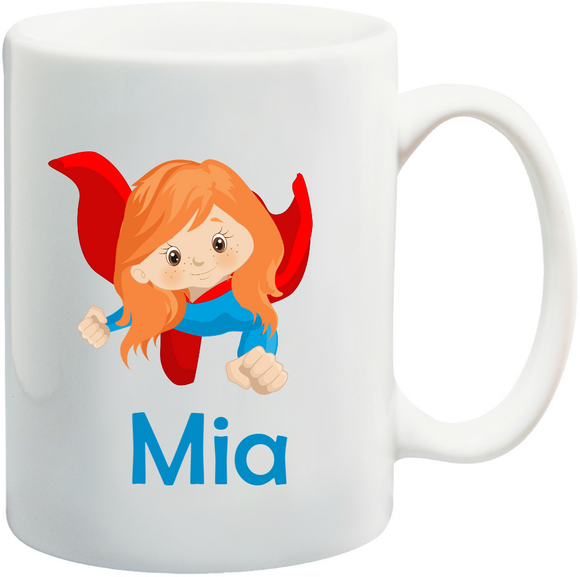Supergirl Kids Mug Personalised