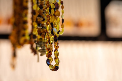 baltic amber necklaces hanging