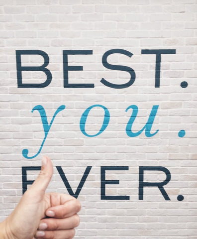 """""""Best you Ever"""" painted on brick wall"""