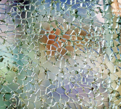 shattered glass that is still in one piece