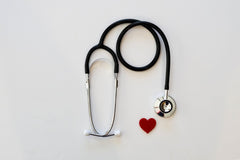 Stethoscope with tiny red heart