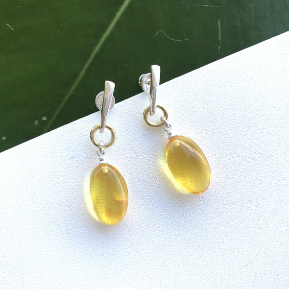 baltic amber earring