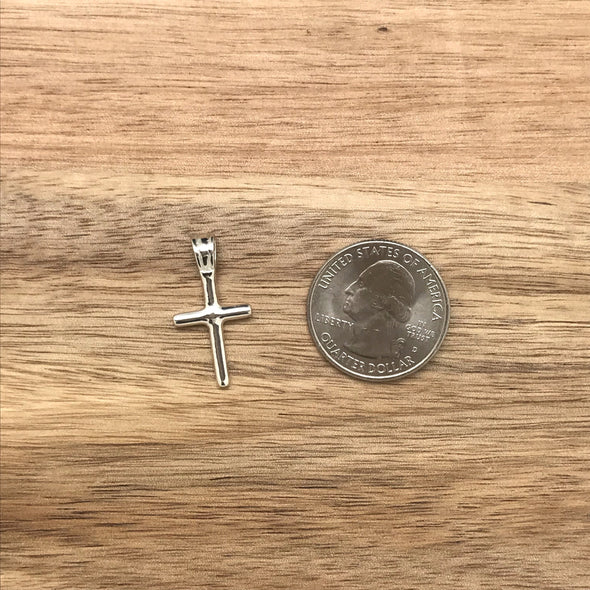 Cross, sterling silver, silver, pendant, necklace