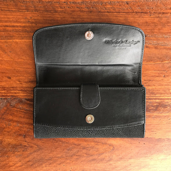 Stingray Leather Clutch Wallet