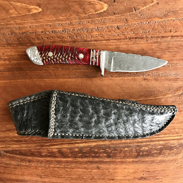 Damascus Knife with Pinecone Handle