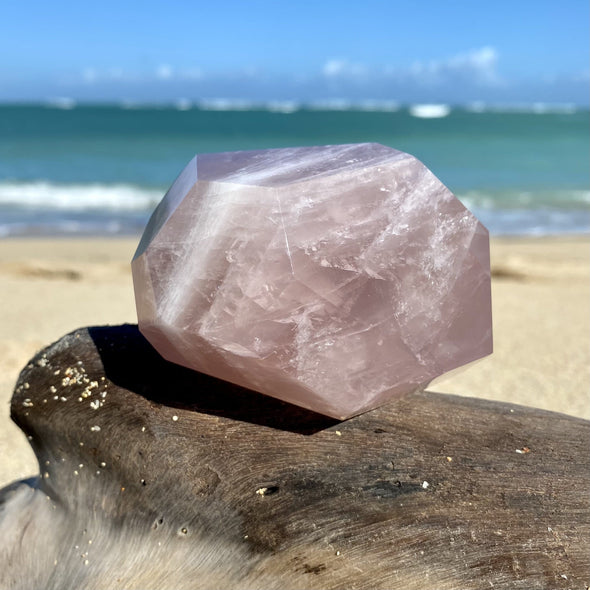 Polished Rose Quartz Crystal