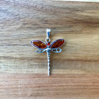 Baltic Amber Dragonfly Pendant