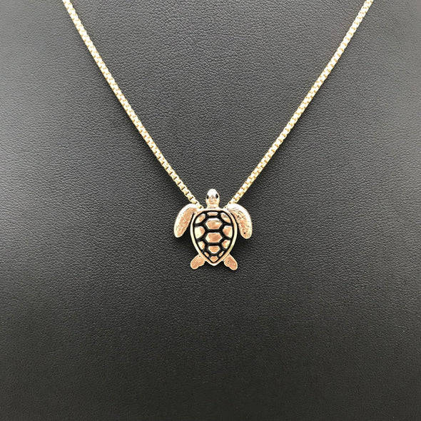 Sea Turtle, turtle, pendant, necklace, 14k, 14k gold, gold
