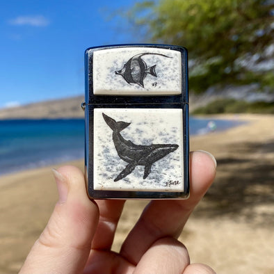 Hand Scrimshawed Zippo Lighters