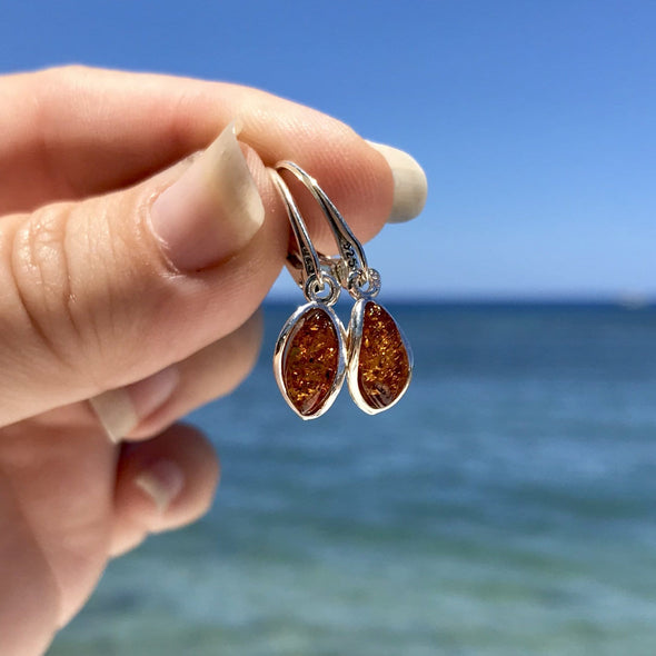 Baltic Amber Earrings - Style 15 - 15ER