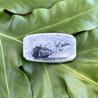 Scrimshaw Money Clip with Knife and File