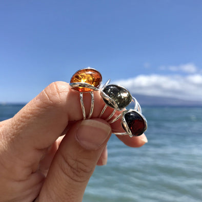 Baltic Amber Ring- Style 6 - 6R